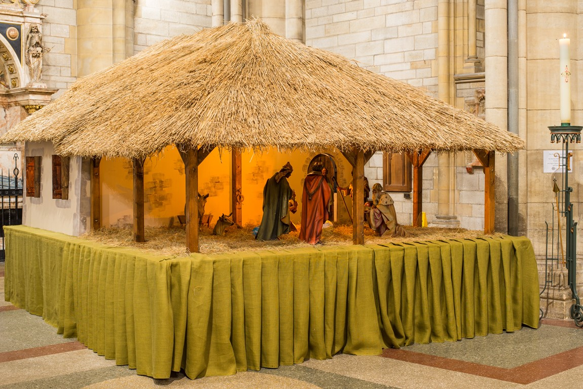 Crib and Nativity set at Truro Cathedral