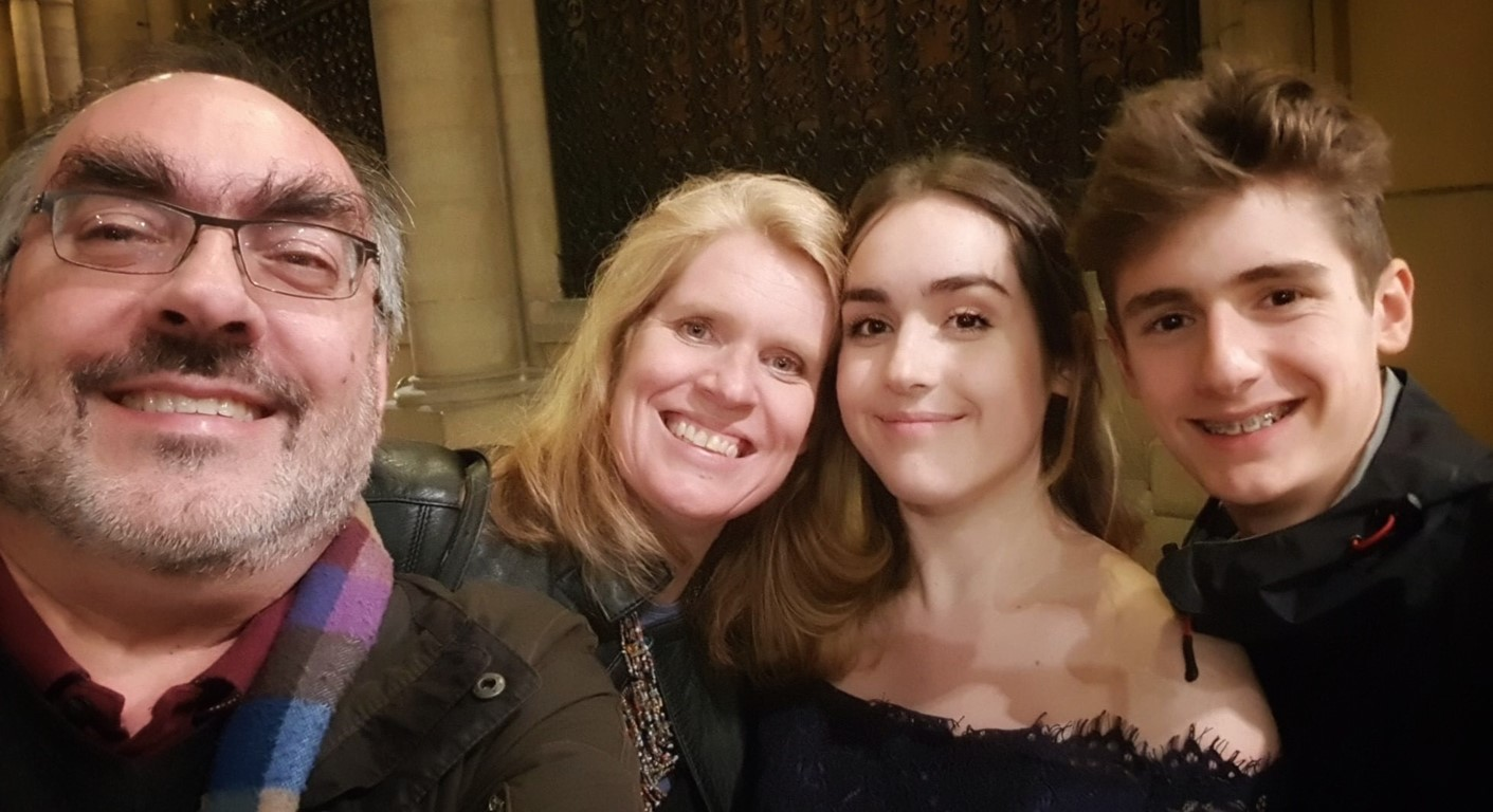 Family photo of the Gregory family