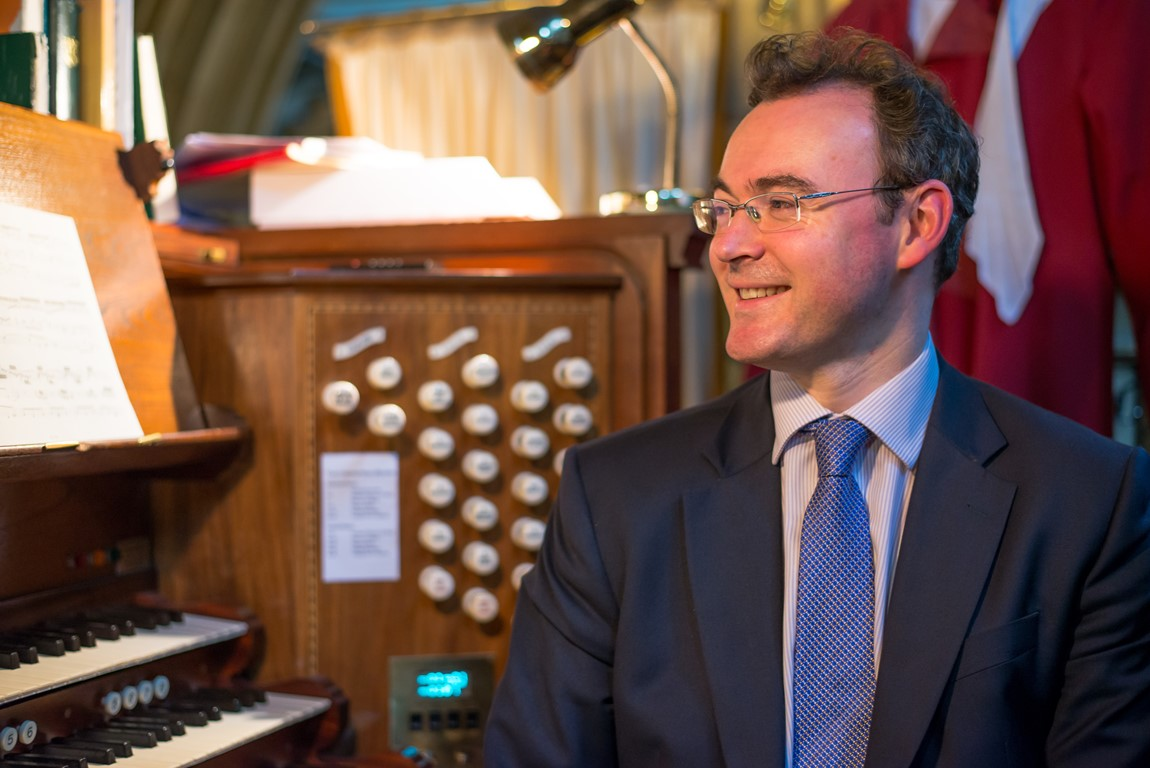 Headshot of Christopher Gray, Director of Music at Truro Cathedral